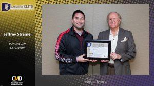 Jeffery Stramel of Westar Energy receives his Leadership Elite Certificate