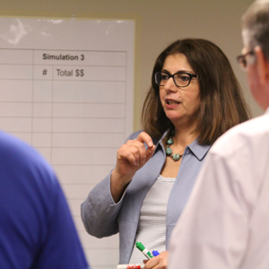 Dr. Sue pictured in a Lean class