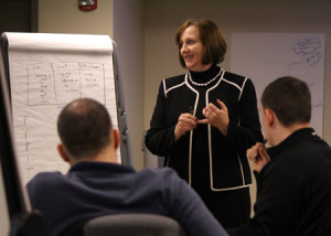 Anita Barrett teaching Agile to a class at CMD.